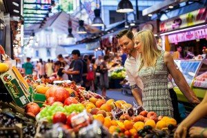 Shopping at the markets on Barcelona vacation, photo by Barcelona photographer Ramon Fornell for TripShooter