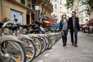 Vacation photos in Paris by velib bicycles, photo by TripShooter's photographer in Paris, Christian Perona
