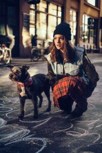 Fashion photo shoot in Budapest of woman with dog, by TripShooter's Budapest photographer Oliver Sin