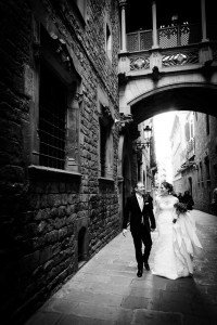 Couple photo portrait at destination wedding in Spain, by TripShooter's Barcelona photographer Pablo Romero