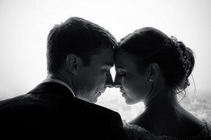 Silhouette style artistic couple wedding photo, by TripShooter's photographer in Vienna, Maria Harms