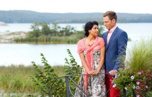Romantic couple photo portraits in Sweden by Stockholm photographer Gunta Podina