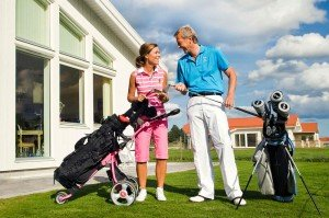 Golf travel couple by Stockholm photographer Gunta Podina