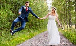 Destination wedding photos in Sweden by Stockholm photographer Gunta Podina