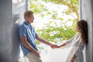 Fun romantic couple photo shoots in Santorini Greece by TripShooter's Santorini photographer Ioannis Pananakis