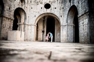 Romantic couple portraits in Dubrovnik by TripShooter's Dubrovnik photographer Nino Knezevic