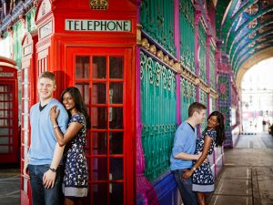 Photos in London, Brighton and England with red telephone box by London photographer Erika Szostak