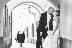 Destination wedding photos in Ljubljana by Matej Kastelic